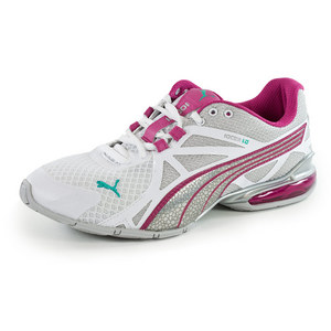 PUMA WOMENS VOLTAIC 5 RN SHOES WHITE/SILV