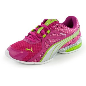 PUMA JUNIORS VOLTAIC 5 RUN SHOES FUCHS/SILV