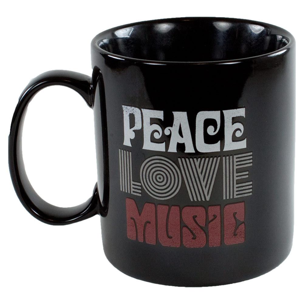 Peace Love Music Jake's Mug Night Black
