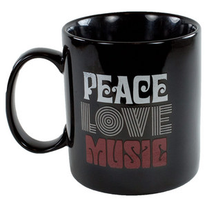 Peace Love Music Jake`s Mug Night Black