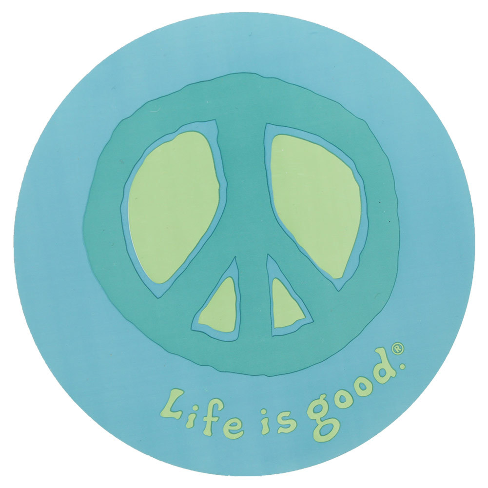 Elemental Peace 4 Inch Circle Sticker
