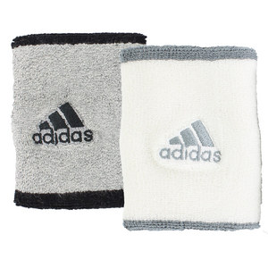 adidas LARGE TENNIS WRISTBAND MD GY HTHR/WH