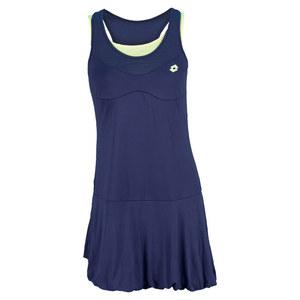 LOTTO WOMENS NIXIA TENNIS DRESS GALAXY/CHICK