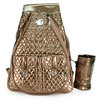 WHAK SAK I`m In Love Bronze Tennis Bag