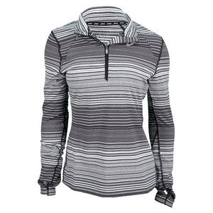 ASICS WOMENS THERMOSTRIPE 1/2 ZIP RUN TOP BK/W