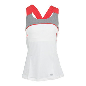 WILSON WOMENS ASHLAND HEATHER X BACK TANK WH/GR