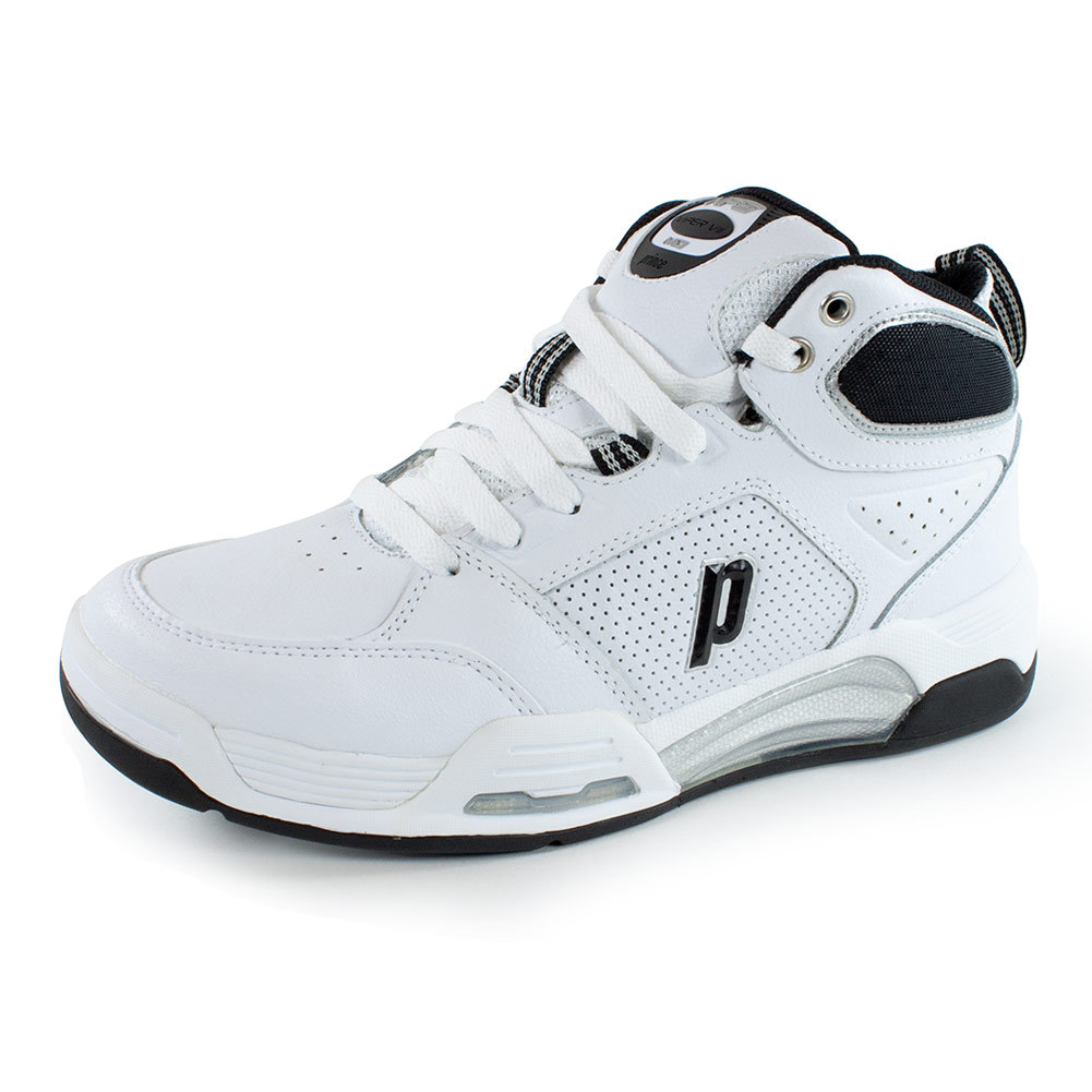 prince s nfs viper vii mid tennis shoes white and black