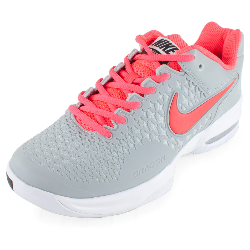 nike womens air max cage tennis shoes silv pn