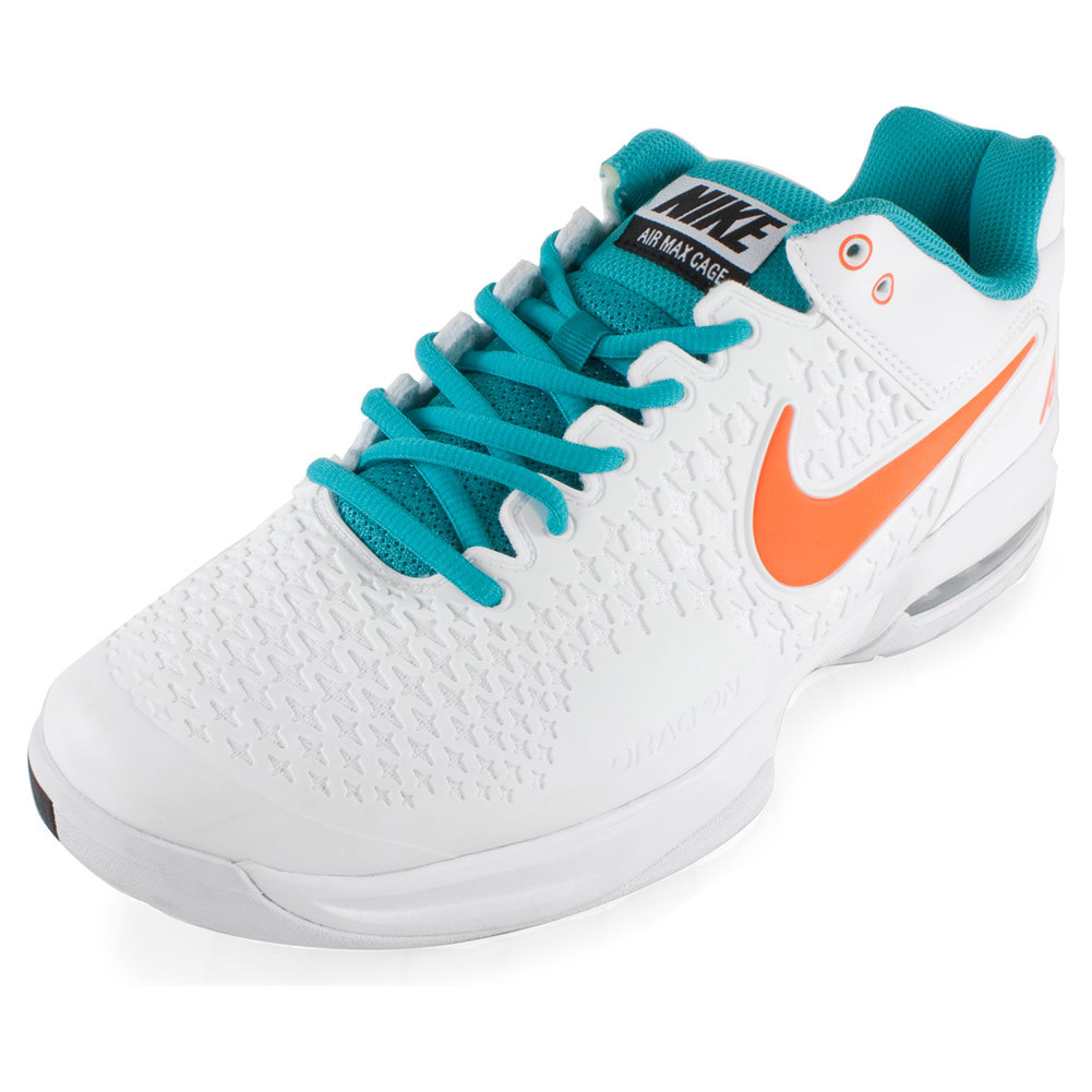 s air max cage tennis shoes white and dusty cactus