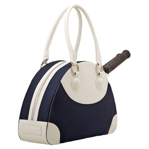 The Sonoma Tennis Bag Navy and White