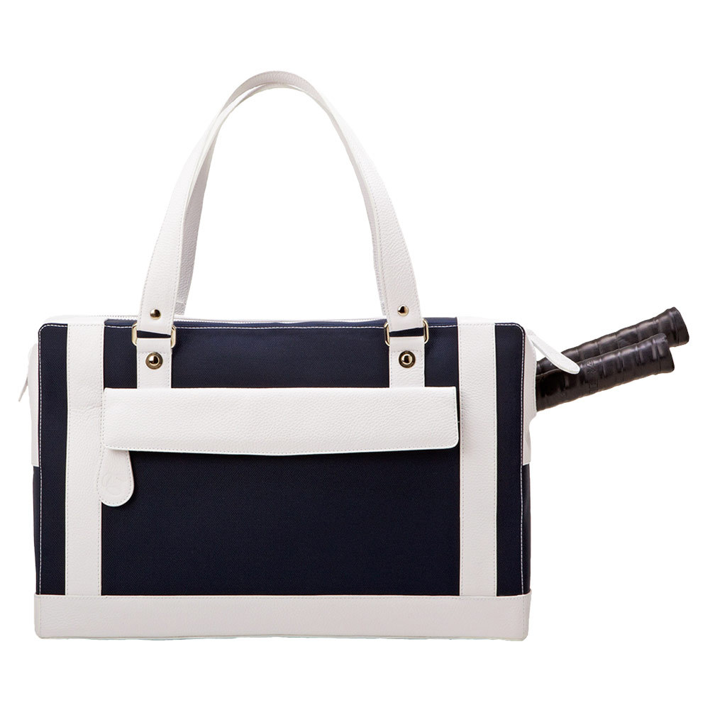The Marina Tennis Bag Navy And White