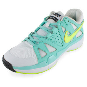 Women`s Air Vapor Advantage Tennis Shoes White and Bleached Turq