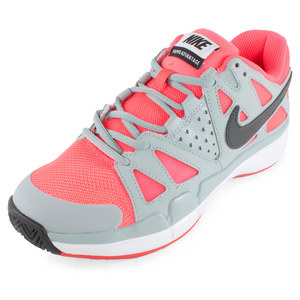 Women`s Air Vapor Advantage Tennis Shoes Hyper Punch and Silver Wing