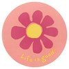 LIFE IS GOOD Elemental Daisy 4 Inch Circle Sticker