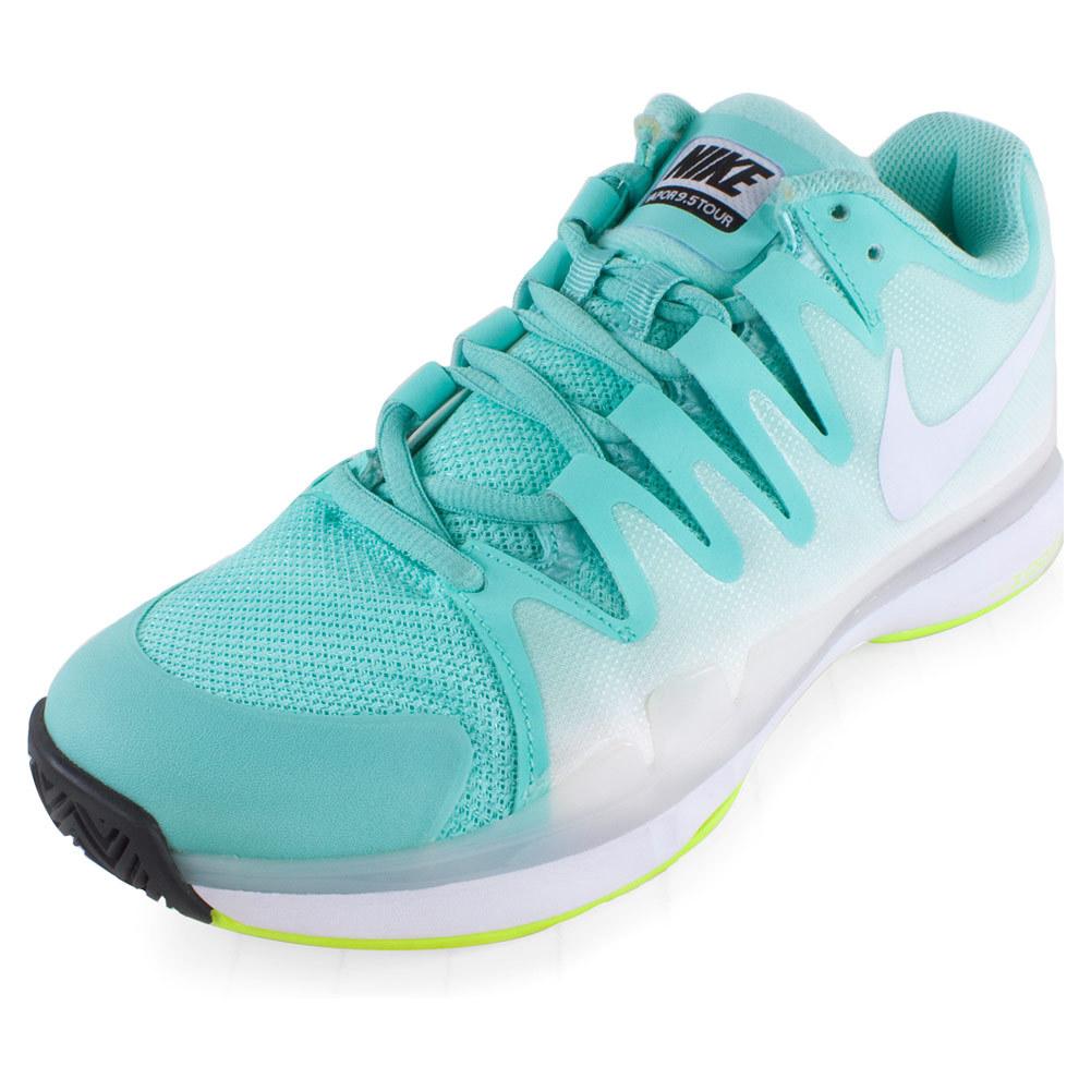 Women's Zoom Vapor 9.5 Tour Tennis Shoes Bleached Turq And Volt