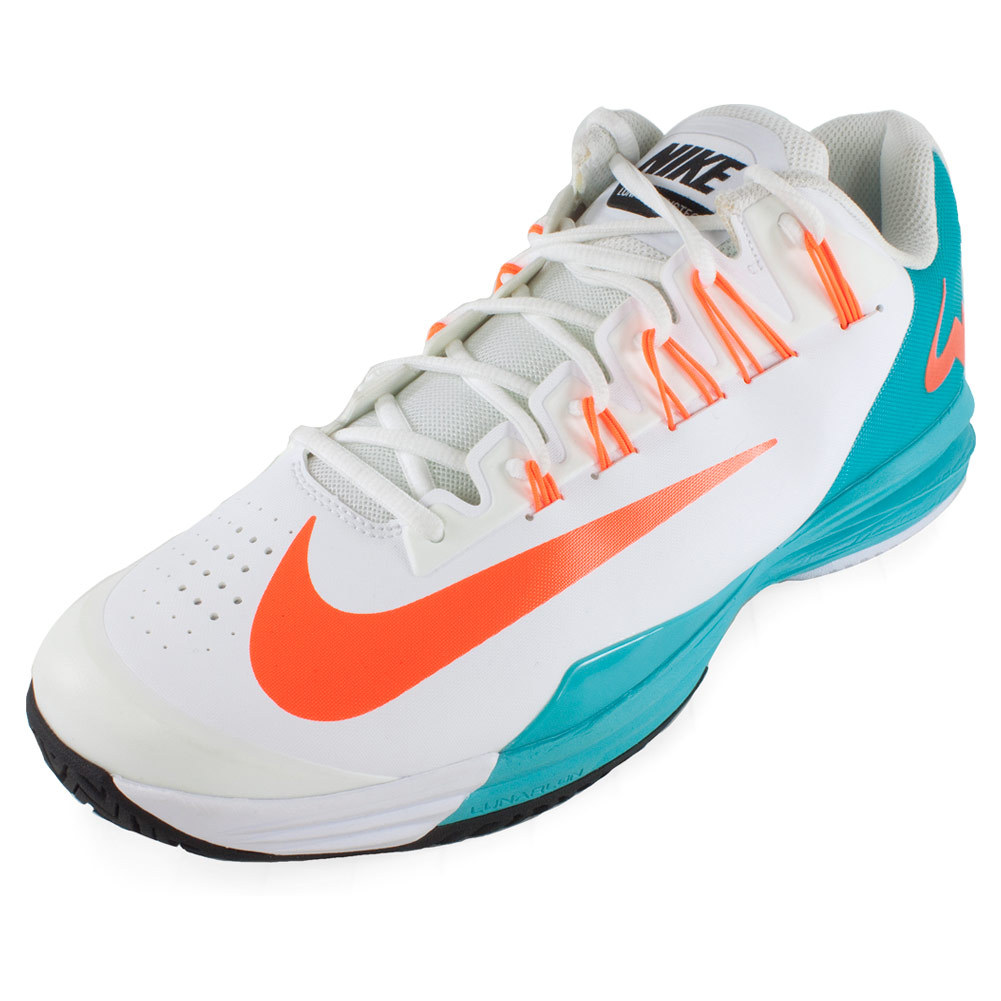 nike s lunar ballistec tennis shoes white and dusty cactus