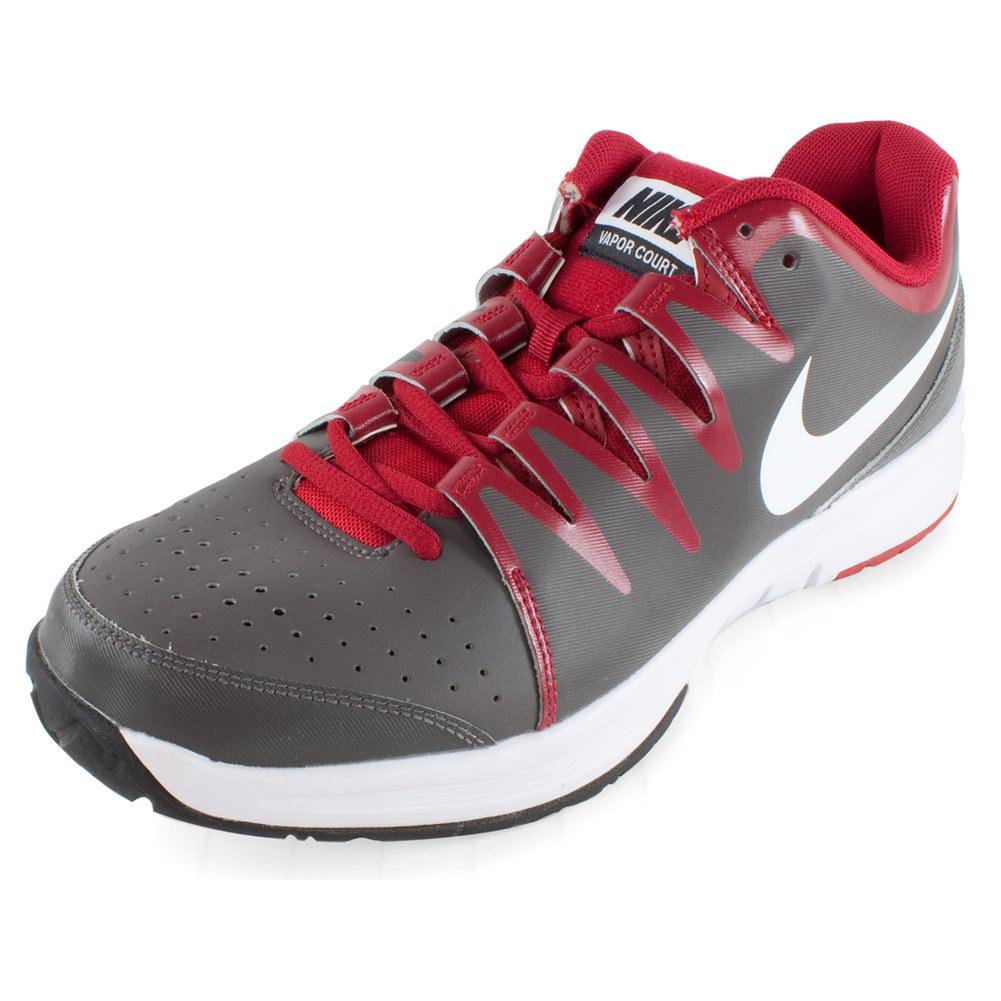 Men`s Vapor Court Tennis Shoes Medium Ash and Gym Red