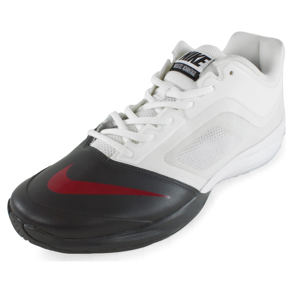 Men's Dual Fusion Ballistec Advantage Tennis Shoes White And Medium Ash