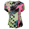 JAMIE SADOCK Women`s V Neck Graphic Tennis Top Dazzle