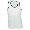 VICKIE BROWN Women`s Dianna Tennis Tank Chalk and Black