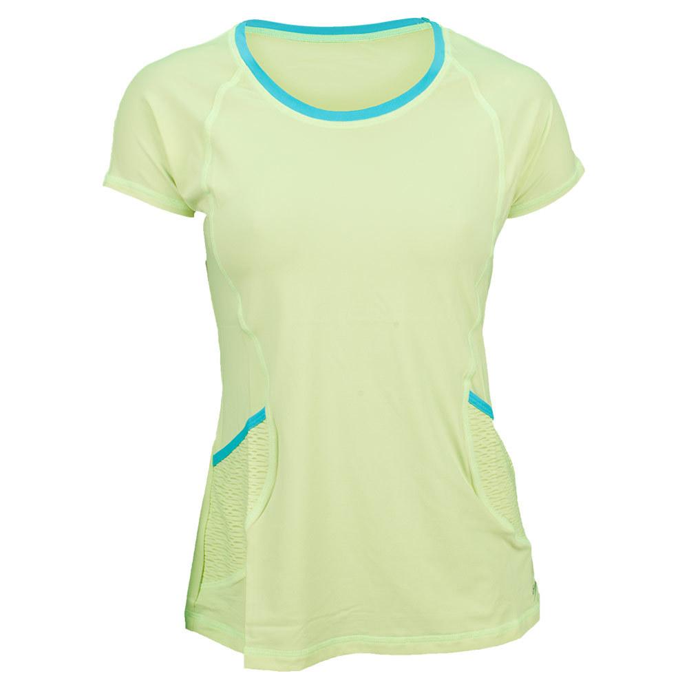 Women`s Classic Moch Sleeve Tennis Top Citron