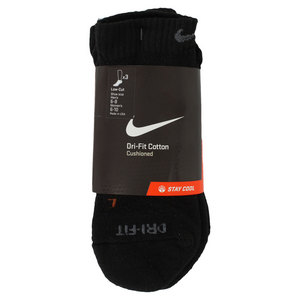 NIKE 3 PK DRI FIT HALF CUSHION MEDIUM LOW CUT