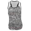 LUCKY IN LOVE Women`s New Dimension Bralet Tennis Tank Print