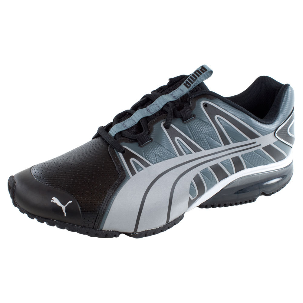 Men's Powertech Voltaic Running Shoes Black And Turbulence