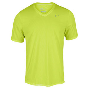 NIKE MEN`S CHALLENGER V-NECK RUNNING TEE