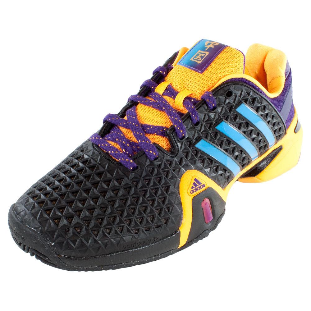 Compare ADIDAS Men's Barricade 8+ Shanghai Tennis Shoes Solar Gold and