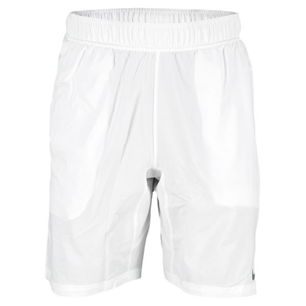Men`s 2-in-1 9 inch Tennis Short The Nike Mens 2in1 9 Tennis Short is engineered with DriFIT textured woven fabric for comfort and cooling and DriFIT color contrast stretch jersey inner short for increased mobility These shorts are made for ultimate performance on the court featuring sid