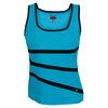BOLLE Women`s Uptown Girl Tennis Tank Turquoise and Black