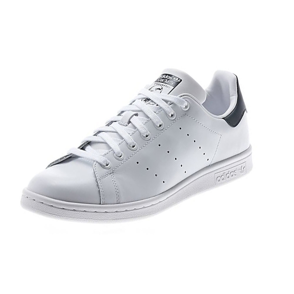 Men's Stan Smith Tennis Shoes White And Dark Blue