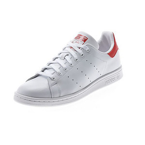 Men`s Stan Smith Tennis Shoes White and Collegiate Red