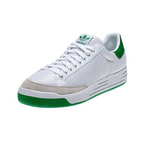 adidas MENS ROD LAVER TENNIS SHOES WHITE/GREEN