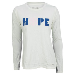 Women`s Long Sleeve Snowflake Hope Tee Simply Ivory