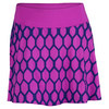 FILA Women`s Center Court Printed Tennis Skort Purple Cactus Flower