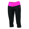 ADIDAS Women`s Mid Rise 3/4 Tight Black and Solar Pink