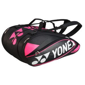 Pro 9 Pack Tennis Racquet Bag Black and Pink