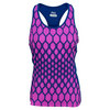 FILA Women`s Center Court Printed Tennis Racerback Twilight