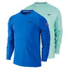 Men`s Practice Long Sleeve French Terry Tennis Crew by NIKE