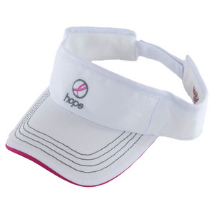 WILSON HOPE TENNIS VISOR WHITE
