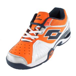 Juniors` Raptor Ultra IV Tennis Shoes White and Samba