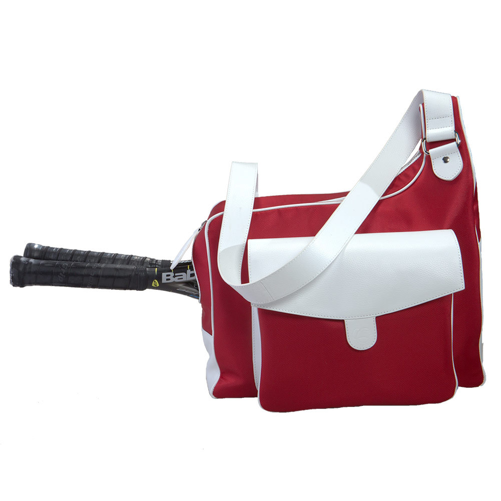 The Sport Messenger Tennis Bag Red And White