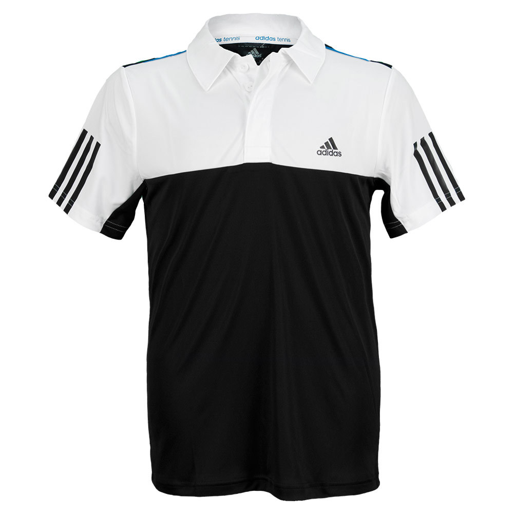Boys ` Response Traditional Tennis Polo Black And White