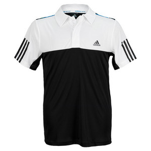 Boys` Response Traditional Tennis Polo Black and White