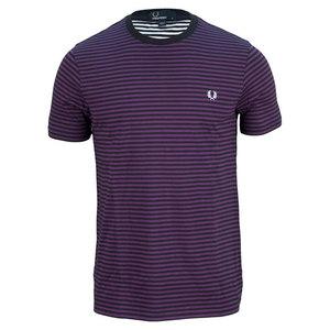 Men`s Sharp Stripe Tennis Tee Navy and Purple