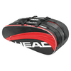 Core Combi Tennis Bag Black and Red by HEAD