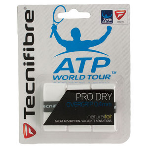Pro Dry Tennis Overgrip 3 Pack White