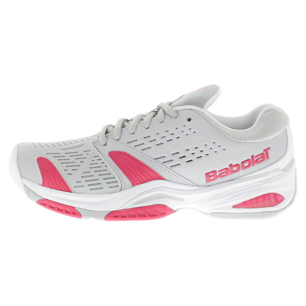 s sfx all court tennis shoes gray and pink